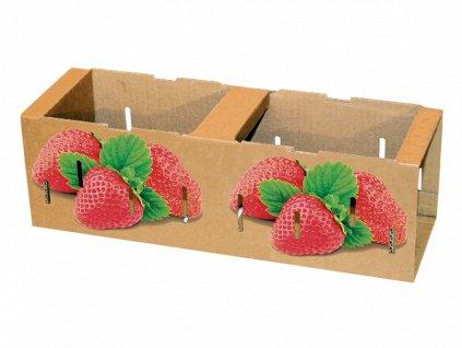Papírový přepravní košík na ovoce 300 ks
