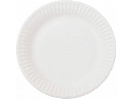 Papírový talíř EKO 18 cm bílý - 100 ks