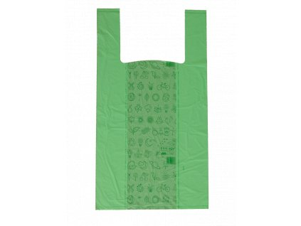 Taška BIO kompostovatelná 27+16x50 cm zelená 500 ks
