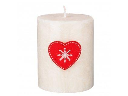 Přírodní vonná svíčka palmová - AROMKA - Válec s vánoční ozdobou - Průměr 5,4 cm, výška 7 cm