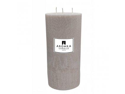 Přírodní vonná svíčka palmová - AROMKA - Válec, 3 knoty, průměr 11,4 cm, výška 24 cm - Vanilka