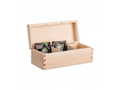 drevena krabicka na caj 3 prihradky