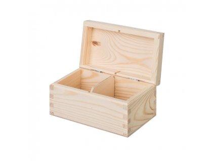drevena krabicka na caj 2 prihradky