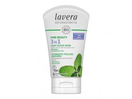 9A407477 09B3 4CD6 B992 052C0926FBF3 lavera pure beauty cistici gel peeling a maska 3v1 125 ml
