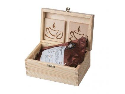 darkova drevena krabicka pro milovniky kavy