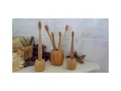 6302 curanatura bambusovy stojanek na zubni kartacek velky