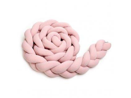 Pletený mantinel pink dots 800x800