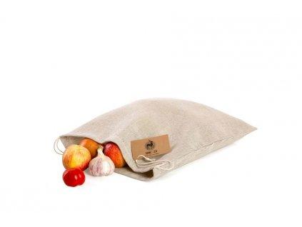 Látkový sáček na pečivo ze lnu MAXI