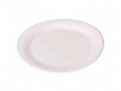 Papírový talíř EKO 18 cm laminovaný bílý