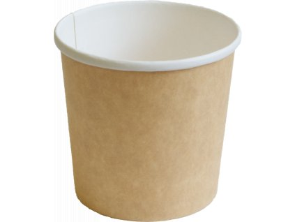 Papírová miska EKO na polévku 300 ml hnědá O90 mm bal/50 ks
