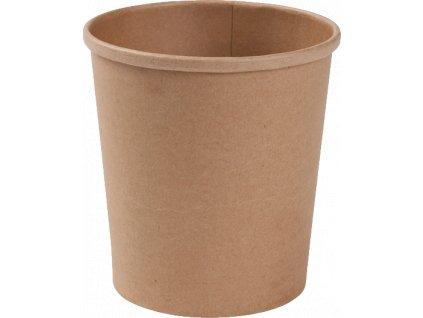 Papírová miska EKO na polévku 300 ml kraft O90 mm bal/50 ks