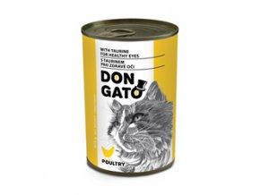 Don Gato konzerva kočka - drůbeží 415g