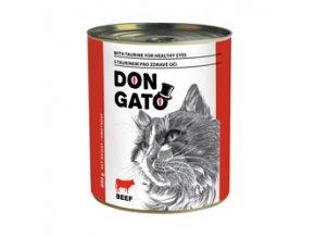 Don Gato konzerva kočka - hovězí 850g