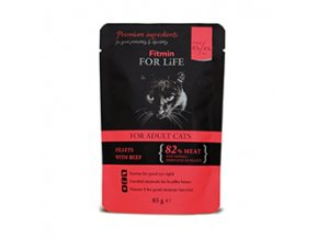 Fitmin FFL cat pouch adult beef 85g
