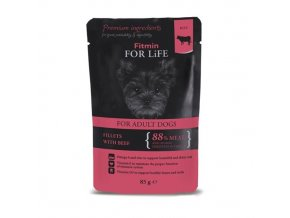 Fitmin FFL dog pouch adult beef 85g