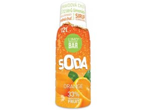 LIMO BAR - Sirup Pomeranč 0,5l