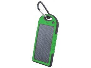 Setty solární power banka 5000mAh zelená