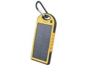 Setty solární power banka 5000mAh žlutá