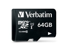 VERBATIM 44084 microSDXC 64GB cl10 adapt