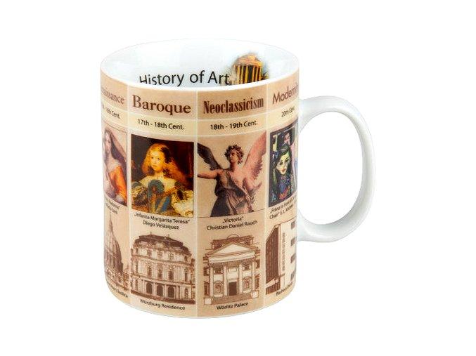 Hrnek s motivem Historie umění