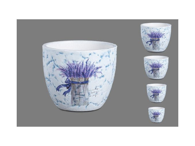 Sada 4 keramických květináčů Provence