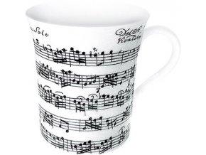 Hrnek s motivem Vivaldi Libretto/white