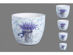 Keramické květináče Provence - sd 4 ks
