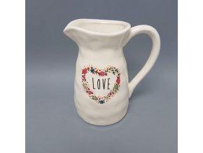 Porcelánový džbán s uchem