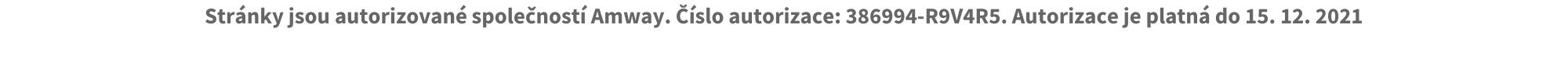 Číslo autorizace