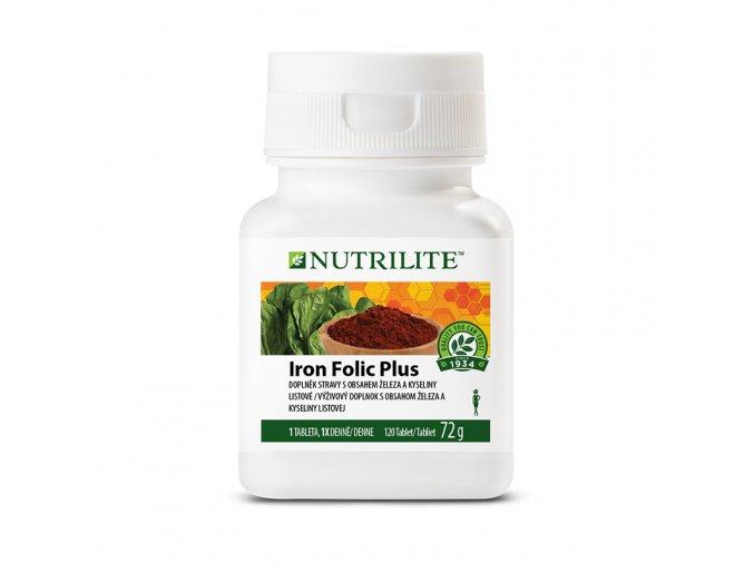 železo a kyselina listová v tabletách