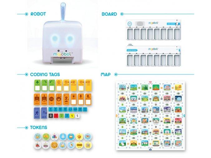 Programovatelný robot - MOJOBOT rozšířená verze
