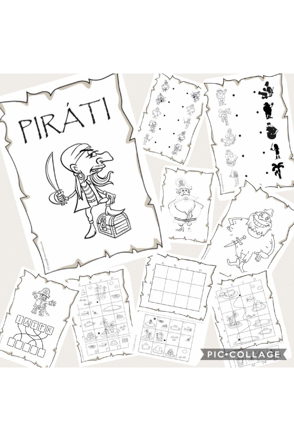 Kniha aktivít - Piráti