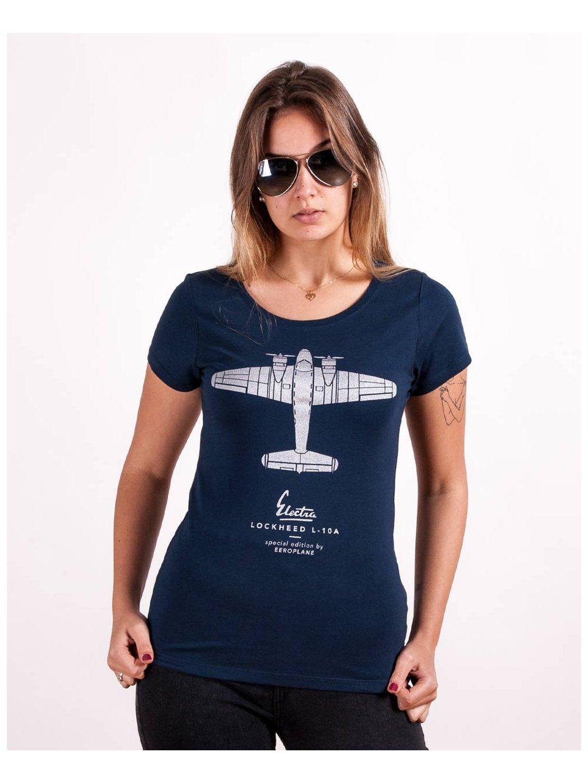 lockheed electra navy women tshirt eeroplane01