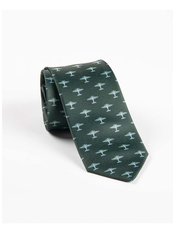 letecka kravata electra zelena eeroplane01