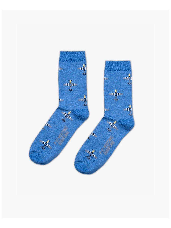 p51 mustang socks aviation eeroplane blue02