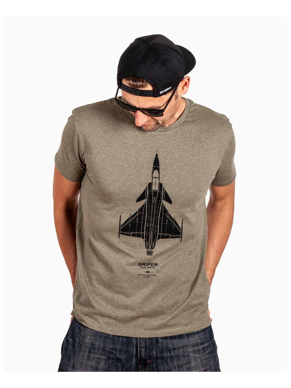 aviation tshirt gripen khaki eeroplane02