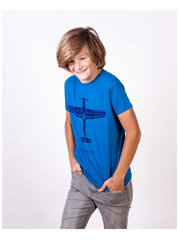 messerschmitt kids tshirt blue eeroplane01