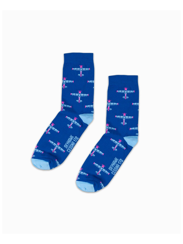 pilot socks cessna172 blue eeroplane