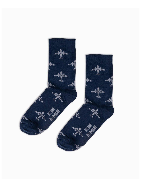 ponozky messerschmitt262 socks navy eeroplane