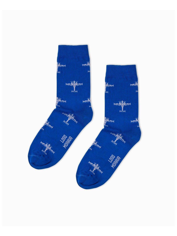 ponozky l200 morava socks blue eeroplane01
