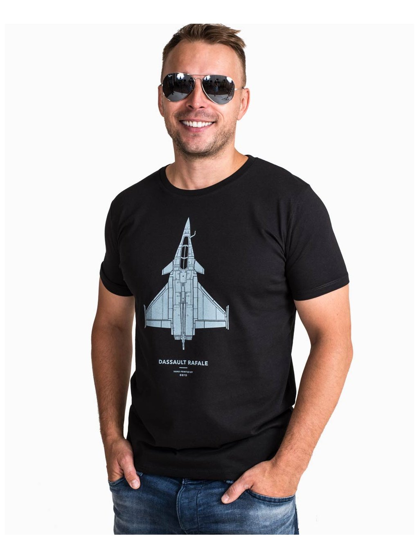 black aviation tshirt rafale tricko eeroplane02