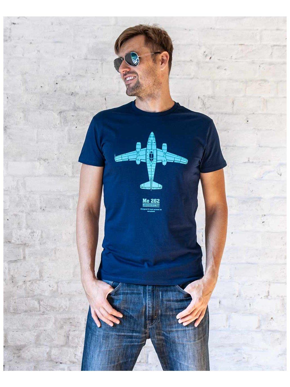 nice aviation tshirt messerschmitt262 tricko s letadlem eeroplane navy02