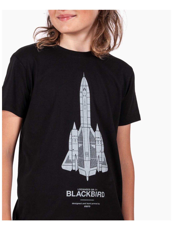 sr71 blackbird detske trickos letadlem eeroplane cerne01