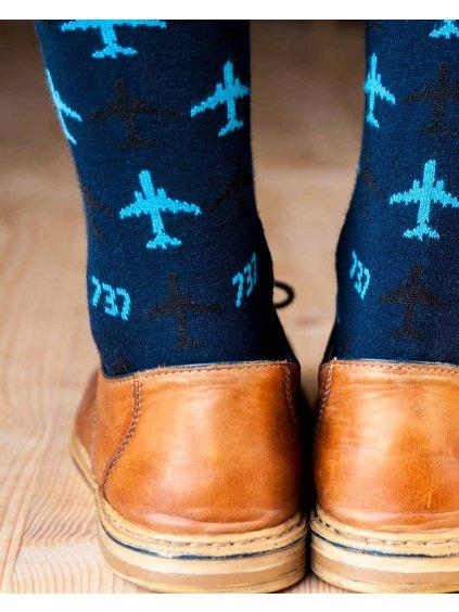 boeing737 socks for pilot navy eeroplane03