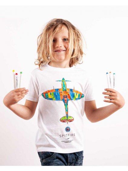 spitfire detske tricko vybarvovaci eeroplane02