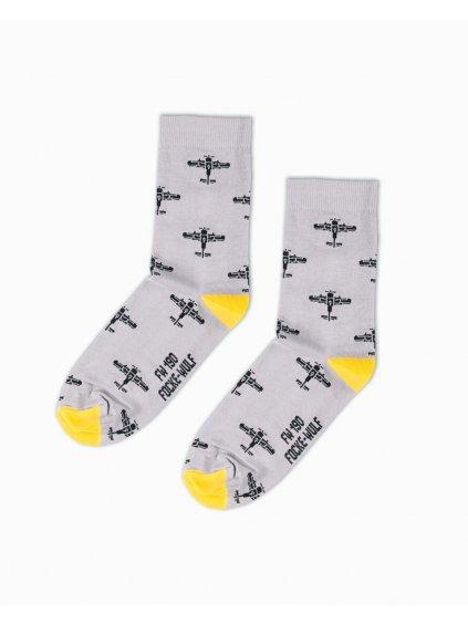 ponozky fockewulf190 socks gray eeroplane03
