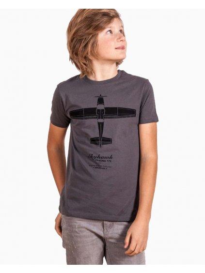kids tshirt cessna172 detske tricko pilot eeroplane asphalt01