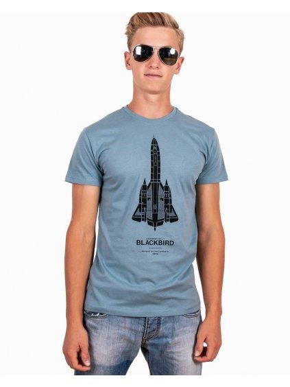 aviation tshirt sr71 blackbird tricko s letadlem modra ocel eeroplane01