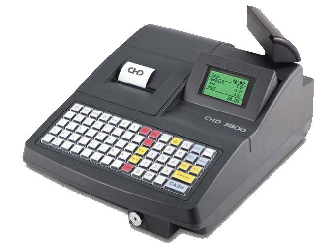 Tlačítková registrační pokladna CHD 3850 EET, vč. pokladní zásuvky