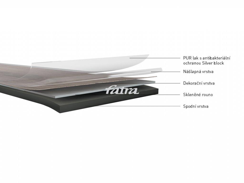 Vzorek podlahy SILVERO-fix